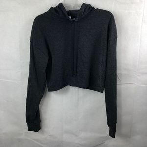 H&M Divided Basics Crop Top Hoodie Size Small